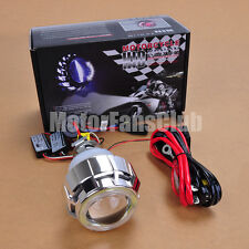 "2.2"" Latest Dual LED Angel Eye HID BI-Xenon Projector Lens Headlight Kit Halo #3"