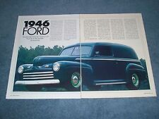 1946 Ford Sedan Delivery Vintage Street Rod Article Panel