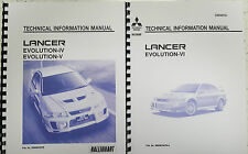 MITSUBISHI LANCER EVO IV / V / VI TECHNICAL INFORMATION MANUAL REPRINTED