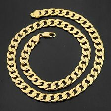 "Heavy! 100g 18k Yellow Gold Filled 24"" Men's Necklace 12MM Curb Chain Jewelry"