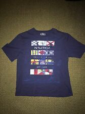 Nautica Nautical Flag T Shirt Graphic Mens XXL 2XL Blue Navy
