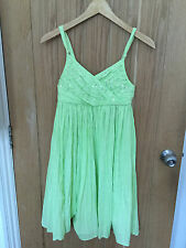Girls MONSOON Gorgeous Lime Green  Embellished  Dress  Age 12-13 yrs