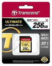 Transcend 256 GB Ultimate SDXC Ultra High Speed Class 3 Memory Card
