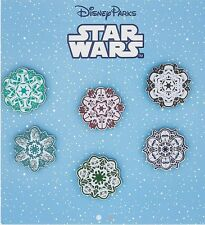 Disney Star Wars Snowflake 6 Pin Booster Set Sealed