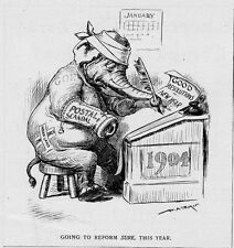 REPUBLICAN ELEPHANT MAKING NEW YEARS RESOLUTIONS POSTAL SCANDAL INDIAN LAND GOP