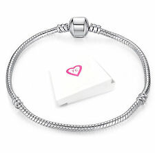 Glamor Chic 20cm Silver Plated Charm Bracelet Pandora European Style  Gift Boxed