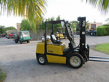 Yale GLPO60 6000LB Forklift Pneumatic Tires Automatic Propane Side Shift 1697 Hr