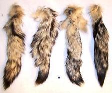 2 REAL KIT FOX TAIL animal tails foxes fur pelt new natural furs bushy tassel