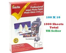 INKRITE INKJET PHOTO PAPER 1000 SHEETS GLOSS GLOSSY 210 GSM 6X4 A6 Printer Thick