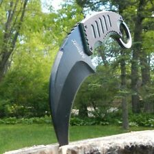 "8"" TACTICAL COMBAT Karambit Claw FIXED BLADE KNIFE Army Hawkbill w/ SHEATH"