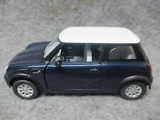 Kinsmart 1:28 Scale Diecast Mini Cooper Pull Back Friction Toy Car BLUE