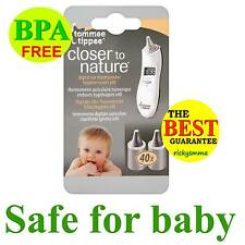 Tommee Tippee Closer To Nature EAR THERMOMETER HYGIENE COVERS x40 Healthcare BN