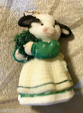 Mary's MOO MOOS ~ IRISH You'd Kiss Me! ~Hanging Ornament (MINI FIG) NEWinBOX
