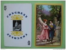 carte à jouer ancienne de collection (USA1940) : la promenade des amoureux
