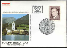 Austria 1984 Ralph Benatzky Composer FDC First Day Cover #C18261