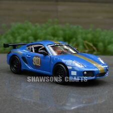 DIECAST METAL 1:32 MODEL CAR TOYS SOUND & LIGHT PULL BACK PORSCHE CAYMAN