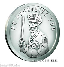 2016 Silver Shield PYRAMID OF POWER #6 - WE BRUTALIZE YOU - 1 oz Silver BU w/COA