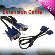 1.5VGA Male to Male Extension Cable color is black New OY