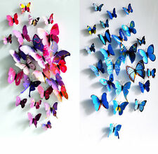 12Pcs PVC 3D Butterfly Wall Stickers Decals Home Decor Poster for Kids Room
