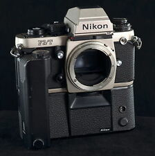 Nikon F3/T 35mm SLR Film Camera Body Only with Motor Drive MD-4
