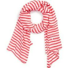 KATE SPADE NEW YORK WINTER PAINTERLY STRIPE OBLONG GERANIUM SCARF