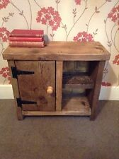 HANDMADE ENGLISH RECLAIMED WOOD TIMBERS SIDE/COFFEE TABLE/UNIT,BEDSIDE