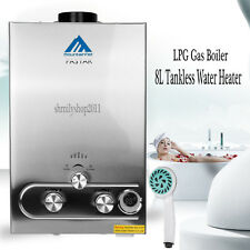 8L Tankless Hot Water Heater Propane LPG Gas Boiler CE