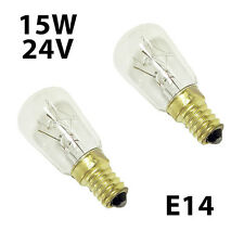 2x Tungsram light Bulbs 15W E14 24V SES for household appliances