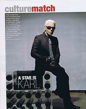 COUPURE DE PRESSE CLIPPING 2006 KARL LAGERFIELD  (3 pages)