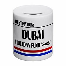 Destination Dubai Holiday Fund Novelty Ceramic Money Box
