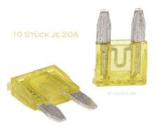 10 Stück 20A Auto-Sicherungen Mini KFZ Sicherungen Flachsicherungen