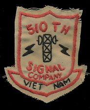 US Army 510th Signal Company Vietnam Patch A-3