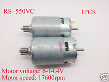 1pcs High Speed RS- 550VC DC Motor for MABUCHI with Gear DC6V~14.4V 17600rpm