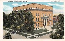 GARY INDIANA MASONIC TEMPLE IN THE STEEL CITY POSTCARD c1920s