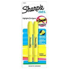 Sharpie Gel Bullet Highlighter, Fluorescent Yellow 2 ea