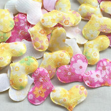 80pcs Padded fabric heart sewing/Appliques/baby Lots Ornament supply
