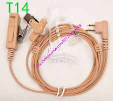 Beige Surveillance Kit Tube Headset Earphone Earpiece for Motorola CP200 radio