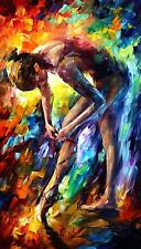 """BALLERINA 3 —  Oil Painting On Canvas By Leonid Afremov. Size: 20""""x36"""""""