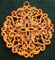 Lace SNOWFLAKE Hanger,Ornament, Decoration, Card Topper Insert,  Gift