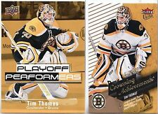 2009-10 UD Playoff Performers PP14 Tim Thomas +Fleer Ultra Crowning Achieve CA10