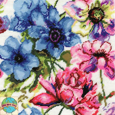 Needlepoint Kit Design Works Watercolor Floral Flowers Picture / Pillow #DW2619