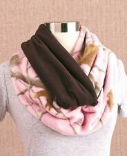Women's Camouflage Fuzzy Fleece Realtree Pink Camo Infinity Loop Scarf