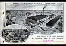 """YCHOUX (40) SCIERIE / EXPLOITATION FORESTIERE """"LARCHE & DUMARTIN"""" en 1911"""