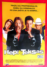 HAPPY TEXAS / JAY SILENT BOB STRIKES 2000 TWO SIDED UNIQUE SERBIAN MOVIE POSTER