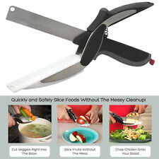 Hot Pro Trendy Clever Cutter 2-in-1 Knife & Cutting Board Scissors As Seen On TV