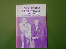 1959-60 HOLY CROSS BASKETBALL MEDIA GUIDE Yearbook GEORGE BLANEY 1960 Program AD