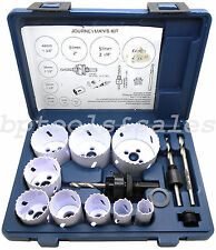 "13pc Bi-Metal All Purpose Hole Saw Set 3/4"" - 2-1/2"" Electricians Plumbers Kit"
