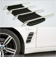 Chrome Silver Exterior Decorative Side Air Intake Vent Air Flow Grille for BMW
