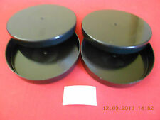 LOT OF (2) *NEW* 16mm 200' BLACK PLASTIC EMPTY CANS ALSO USE WITH SUPER 8 & 8mm
