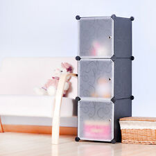 DIY Home Storage Cube Cabinet for Clothes Shoes Bags, Office, Black (3) Cubitbox